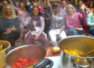 Lebensfreudemesse Kiel 2015, Show-cooking 2, ayurveggie, ayurvedapur, ayurvedazentrum malente, imke christoph